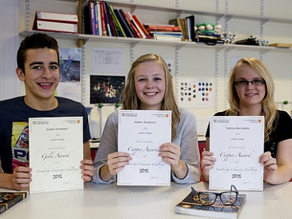 Students Excel at Cambridge Chemistry Challenge
