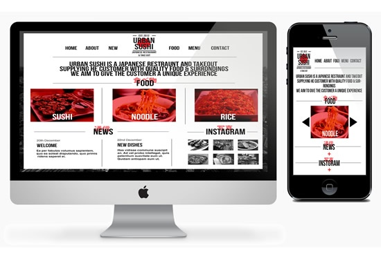 Website Design for Sushi Bar
