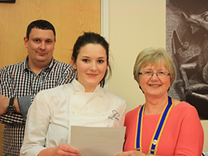 Student Wins Ludlow Heat of Rotary Young Chef Competition